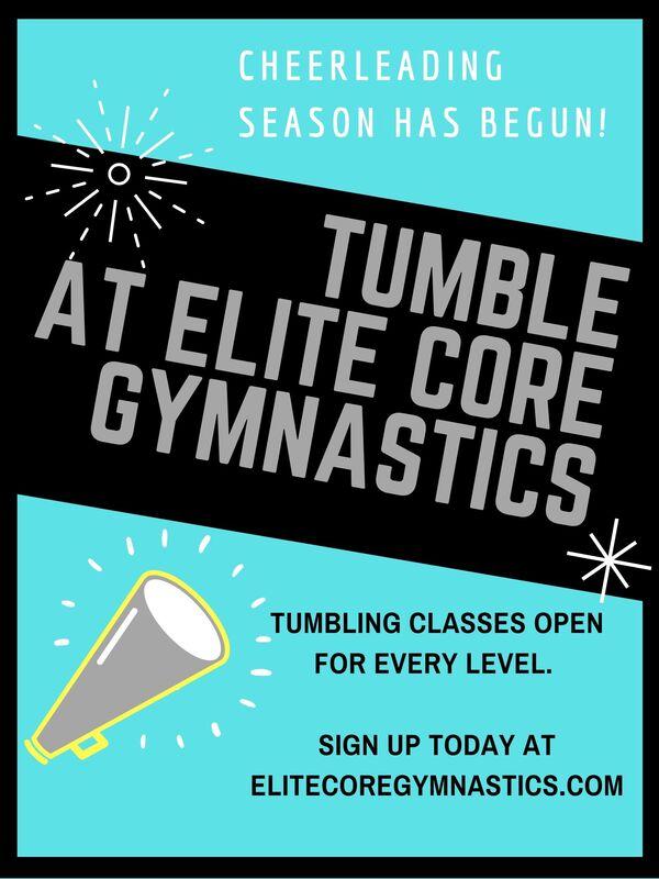 cheerleading tumble at elite core